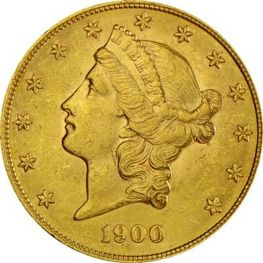 20 USD Goldmünze Liberty Head